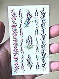 tzxdbh 5PCs-Etiqueta de Transferencia Temporal a Prueba de Agua Etiqueta de Tatuaje Temporal a Prueba de Agua Lotus Watercolour Toma Tatuajes Manos y Brazos para Mujeres Niñas Viper Chocolate