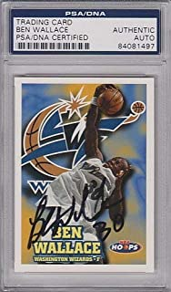 Ben Wallace Autographed Signed Card PSA/DNA Authenticated Slabbed Sb13
