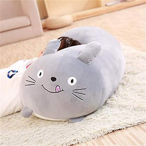 Idea de regalo para niños, almohada gigante de peluche, peluche, animales de peluche para bebés y niños pequeños, criatura cilíndrica divertida, gato 60 cm