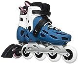 Rollerblade Maxxum 84W Patines en línea, Mujer, Maxxum 84 W, BLU Petrolio/Bianco, 245