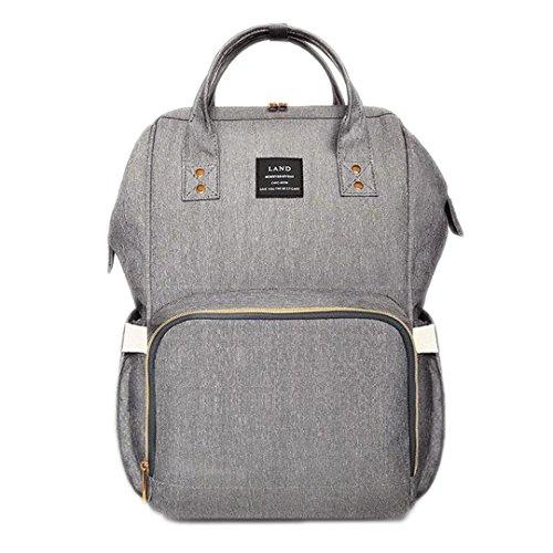 Sac à langer bébé momie maternité sac à langer grande capacité sac de bébé sac à dos concepteur sac d'allaitement/Linen gray