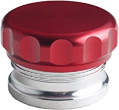 JGR 2 inches Aluminium Alloy Fuel Cap Weld On Filler Neck And Oil Tank Cap (Red, 2-inch)