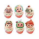 36Pcs Edible Cartoon Melon Cupcake Topper Coco Baby Cake Topper Wafer Paper Decoration JJ Party