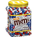 M&M's Candy, Peanut Red White & Blue Milk Chocolate, 62 Ounce