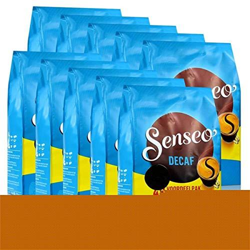 Senseo Kaffeepads Décafé / Entkoffeiniert, Reiches Aroma, Intensiv & Ausgewogen, Kaffee, neues Design, 10er Pack, 10 x 48 Pads