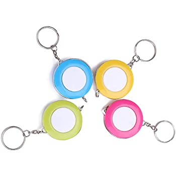 Utoolmart Mini Retractable Ruler Tape Multifunctional Keychain Key Ring for Tailor Sewing Body Measure Tape 1pcs