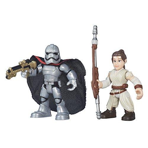 Playskool Heroes Galactic Heroes Star Wars Resistance Rey (Jakku) & Captain Phasma, Model: B3308AS0, Toys & Gaems