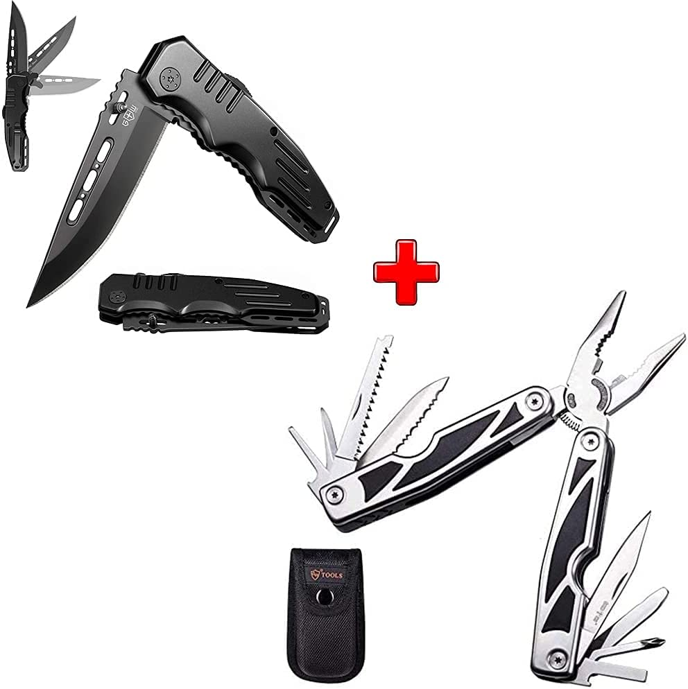 Bundle of 2 Items - Financial sales sale Folding Spring Knife Pocket Year-end annual account Assisted