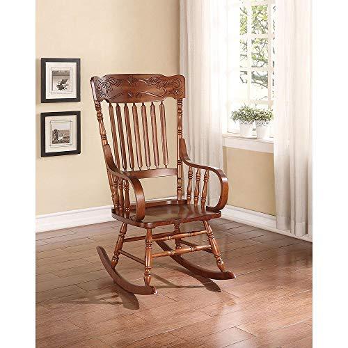 Zebery Acme Kloris Rocking Chair in Tobacco 59210