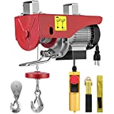 VIVOHOME 110V 440 Lbs Lift Electric Hoist, Remote Control Electric Winch, Garage Ceiling Crane Overhead, Zinc-Plated Steel Wire Hoist for Garage, Warehouses, Factories Lifting