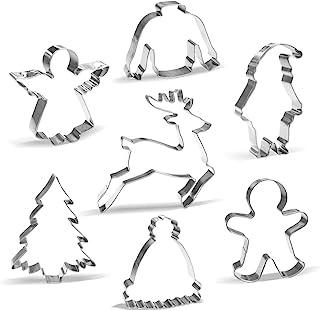 Moldes de Galletas Navidad - 7 Piezas - Papa Noel, Renos,