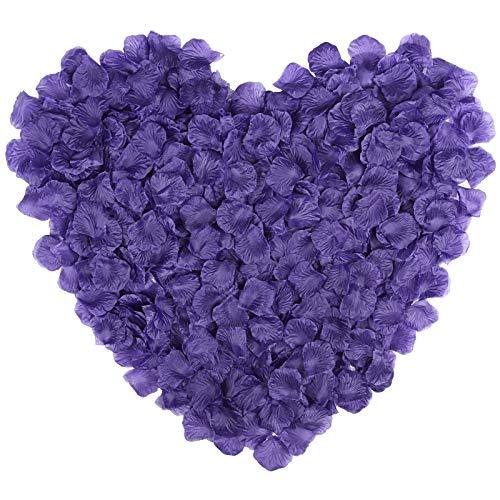 Naler 2000 piezas de pétalos de rosa artificiales, pétalos de flores