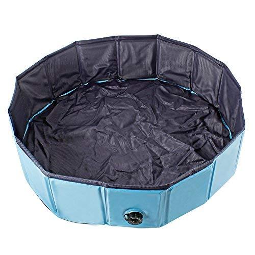 AYITOO Cani Piscina, Cani Vasca da Bagno, Piegevole Piscina per Cani,Ambiente Amichevole Pet Piscina Bagno per Animale Domestico Nuoto Piscina,120 x 30 cm Blu