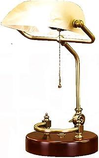 Retro LED lámpara de mesa/antiguo clásico banqueros lámpara de escritorio/oficina lámpara de lectura con amarillo imitación mármol pantalla giratoria cabeza (sin bombilla)