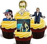 Made4You Elton John Rocketman – Decoración Comestible para Cupcakes – Obleas de decoración para Tartas