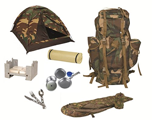 AOS-Outdoor Festival Open Air Biwak Set Survival Set Komplettset Woodland
