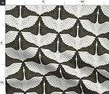 Spoonflower Stoff – Kleine Kraniche Vogel Art Deco Tiere