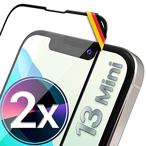 UTECTION 2X Full Screen Schutzglas 3D für iPhone 13 Mini (5.4