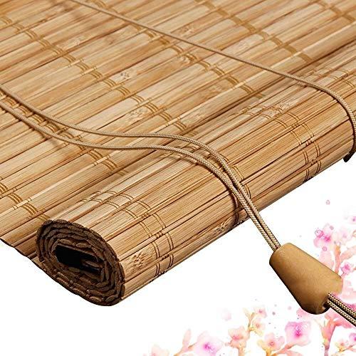Bamboe Rolgordijn Rolgordijn Bamboe Vouwgordijnen Privacy Shield Rolgordijnen Houten Rolgordijn - Natuurlijk Gordijn Schaduw Met Volant Wandmontage Veranda Balkon Meerdere Grootte Aanpasbaar