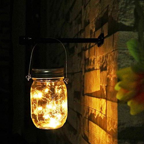 NEWYANG Solarlampen fur Garten 30 LED Wetterfest Solar Einmachglas Aussen Lampions, Lichterkette im Glas,Gartendeko Solarleuchten für Weihnachten,Außen Laterne, Hochzeit, Party,Wand, Tisch, Baum