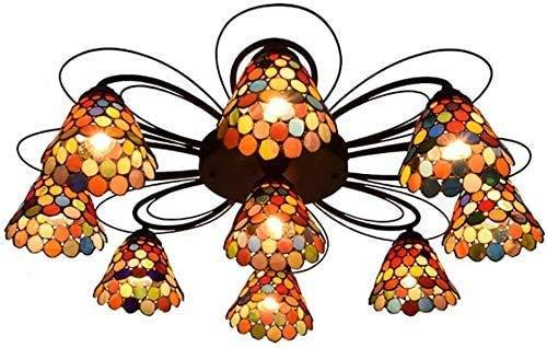 Wtbew-u Lámpara de Techo, luz de baño Lámpara de Montaje en Color de Techo, Estilo de Bohemia Lámpara de araña de Techo de Techo de Techo para Comedor