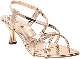 Feel it Comfortable Leatherite Casual/Formal Block Heel Sandals for Women's & Girl's - (GL-02-P)