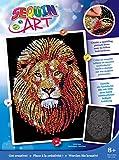 Sequin Art - Cuadro de decoración con Lentejuelas, diseño de león