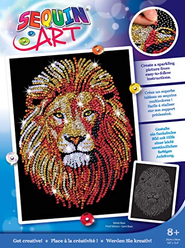 Sequin Art 1207 Lion Craft Project From The Blue Range 28 x 37 Centimetres