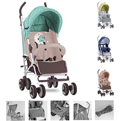 Lorelli Kinderwagen, Buggy IDA, schwenkbare Vorderräder, Rückenlehne verstellbar, Farbe:grün