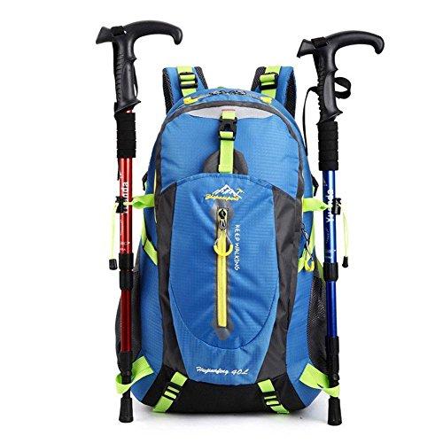 NANANANA 40L impermeable mujeres y hombres mochila de viaje camping escalada senderismo deporte bolsa deportes al aire libre equitación senderismo ciclismo mochila bolsa