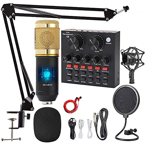 Podcast Equipment Bundle, with Professional Cardioid Pickup Podcast Microphone (120kHz/24 bit) and Mixing Board, Compatible with PC/Laptop/Smartphone, is Prefect for Streaming/Podcasting/Gaming…