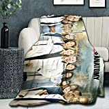 DIYHMH Grey's Anatomy All Characters Blanket Grey's Anatomy Merchandise Fuzzy Micro Soft Flannel Throw Blanket 60x50 inch