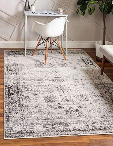 Unique Loom Collection Sofia Collection Tapis Traditionnel Polypropylène Gris/Ivoire 122 x 183 cm