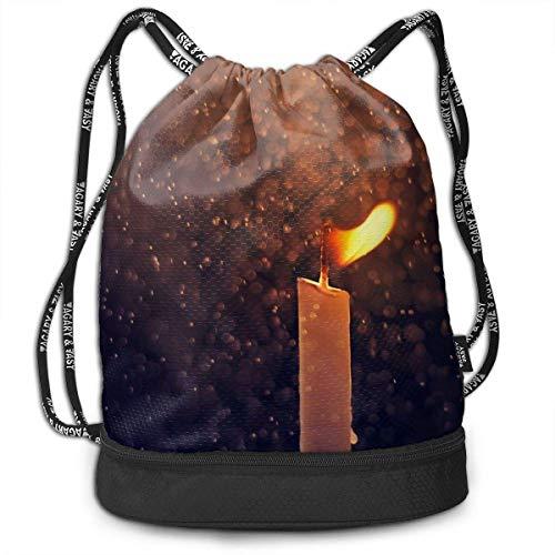 Leila Marcus Kordelzug-Rucksack, mit Kordelzug, zum Verbrennen, Kerzen, zur Aufbewahrung von Schuhen und Wandern