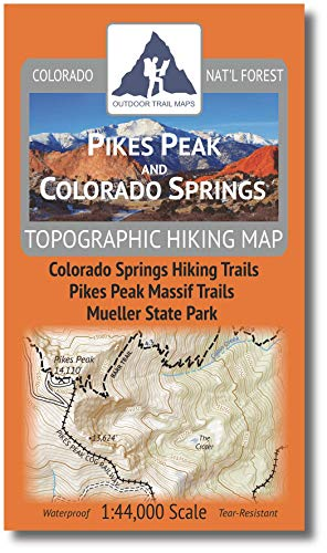 Outdoor Trail Maps Pikes Peak and Colorado Springs - Topographic Hiking Map (2020)