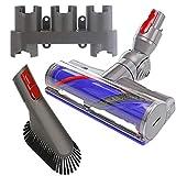 Spares2go cabezal de cepillo para piso de turbina + soporte para herramientas + cepillo para polvo para aspiradora Dyson V10 SV12 Cyclone Animal Absolute sin cable