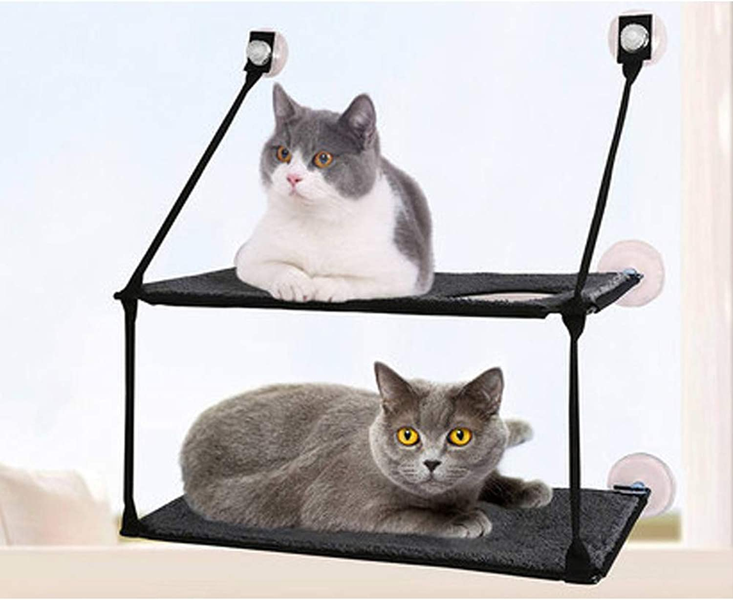 GXYHJX Cat Hammock, Cat Litter Cat Mat Pet Nest Cat Sucker Double Sill Cat Litter