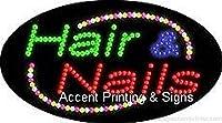 Hair & Nails Flashing & Animated High Impactエネルギー効率的なLEDサイン