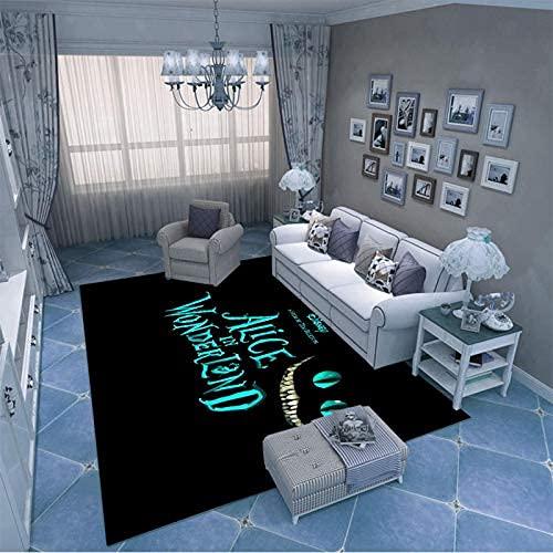 xiangpiaopiao Alfombra Alfombra Creativa Linda Chinchilla Art Impreso En 3D Decoración para El Hogar Alfombra Suave Antideslizante (12842Dt) 120X120Cm