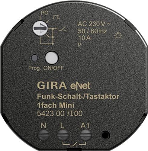 Gira 542300 Funk Schalt Tastaktor Mini 1-Fach eNet