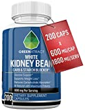 Carb Blocker - 1800 MG - 200 X 600 MG of 100% Pure White Kidney Bean Extract - 2 Phase Car...