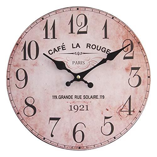 perla pd design Wanduhr Küchenuhr Design Café la Rouge ca. Ø 28 cm