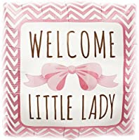 Welcome Little Lady Helium Foil Balloon - 18 inch by Northstar Balloons [並行輸入品]