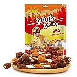Jungle Calling Barras para Los Mascota Snacks de Los Perros para Entrenarlos Juquete Mordedor para Los Cacherros,Rollo de Pollo/Ternera de Medio Seco, de Larga Duración para Perros 40% 15 Piezas 300g