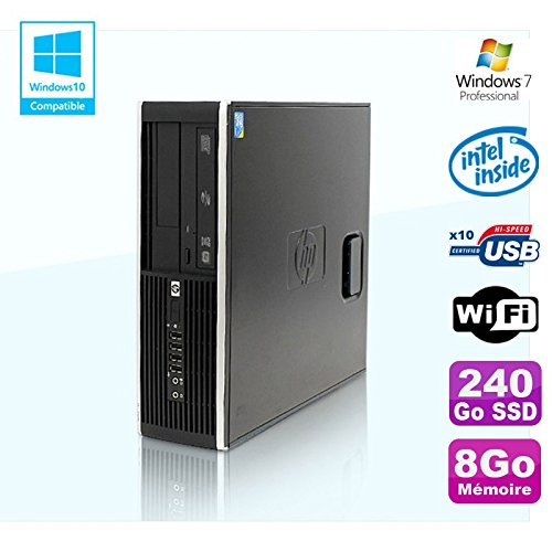 Hp PC Compaq Elite 8100 SFF G6950 2,8 GHZ 8gb 240Go SSD Wifi Gravierer W7 Profi