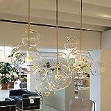 HOMECR Lámpara Colgante De Bola De Cristal De Burbuja Lámpara De Araña De Cristal Creativa Sala De Estar Restaurante Hotel Lámpara De Techo De Diseño Decorativo Minimalista Moderno 1 Light 4 Ball
