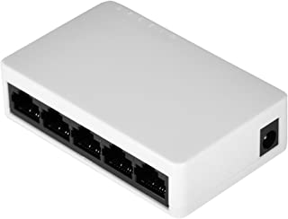 Oumij Thernet Network Switch Mini Network Switch 10/100mbps Adaptive RJ45 Port 5-Port 10/100mbps Fast Ethernet Switch Full/Half Duplex Self-adaptationTransmission Mode
