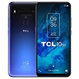 TCL 10 5G - Smartphone de 6.53' FHD+ con NXTVISION (Qualcomm 765G 5G, 6GB/128GB Ampliable MicroSD, Cámaras de 64MP+8MP+5MP+2MP, Batería 4500mAh, Android 10) Color Azul