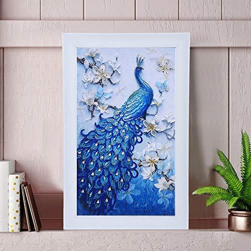 Arbre de Vie Harmony 3 Bleu /& Gris H 80 cm happyDko D/écoration Murale