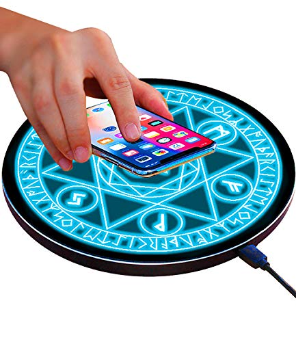 Wireless Charger Qi 10W Wireless Charging Pad, 7.5W Compatible with iPhone 11/11 Pro/11 Pro Max/Xs Max/XR/XS/X/8/8 Plus, 10W Fast Charging Samsung Galaxy S10/S10+/S9/S8/Note 10/10+/9/8 (No AC Adapter)